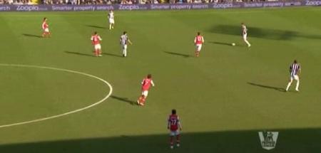 Arsenal pressing high up